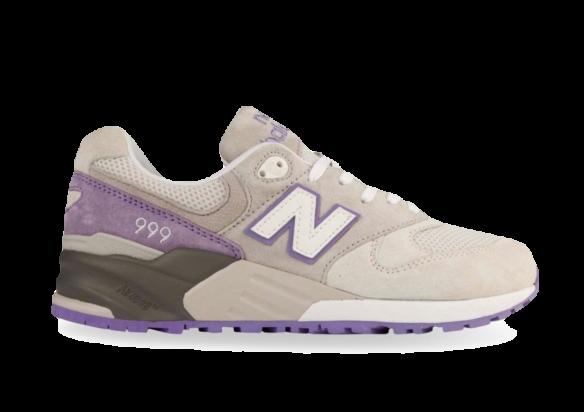 New Balance 999 Серые с Фиолетовым
