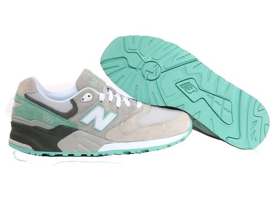 New Balance 999 Серые с Голубым