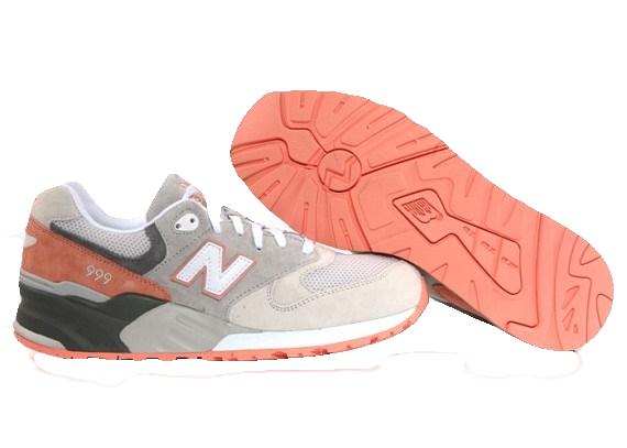 New Balance 999 серые с оранжевым