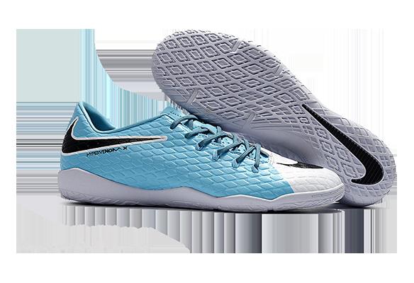 Nike Hypervenom 3 IC Белые с Голубым