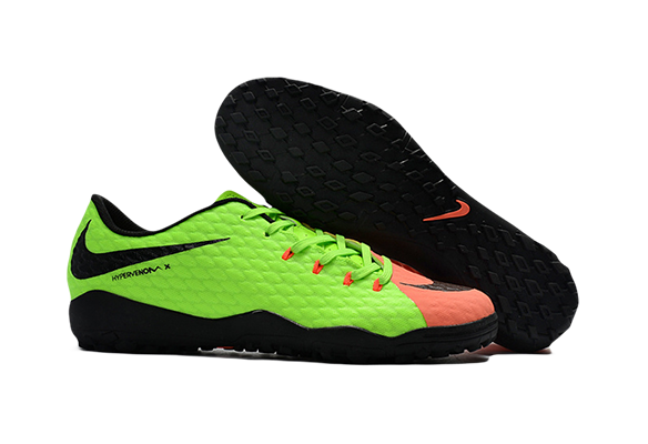 Nike Hypervenom 3 TF Зеленые с Оранжевым