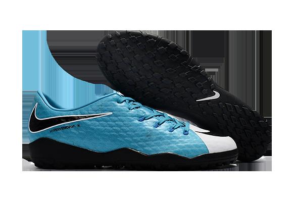 Nike Hypervenom 3 TF Голубые с Белым