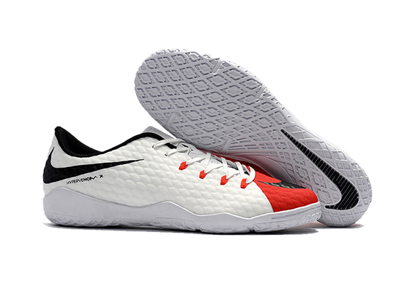 Nike Hypervenom IC Белые с Красным