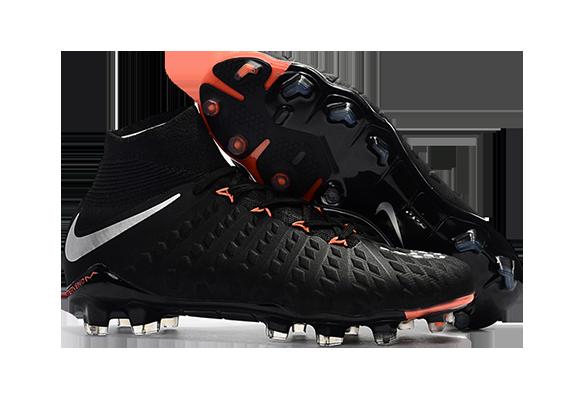 Nike Hypervenom Phantom III DF FG Черный/Оранжевый
