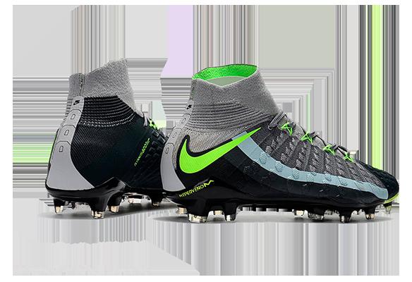 Nike Hypervenom Phantom III DF FG Черный/Серый/Зеленый