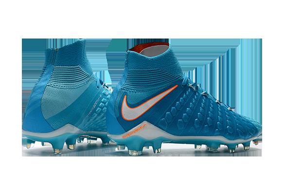 Nike Hypervenom Phantom III DF FG Голубой/Оранжевый