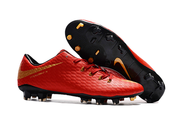 Nike Hypervenom Phantom Premium FG Красный/Золотой