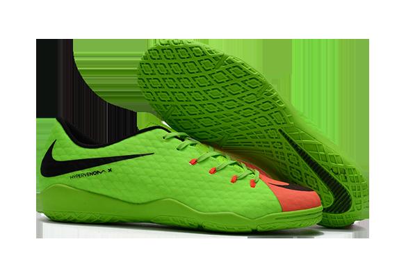 Nike Hypervenom Phantom Premium IC Зеленые с Оранжевым