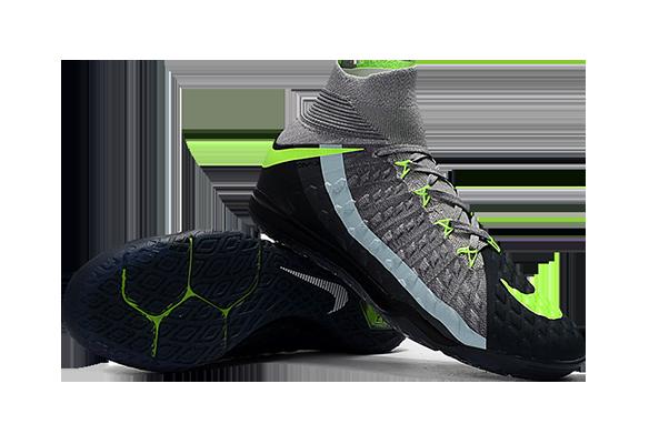 Nike HypervenomX Proximo II DF IC Черные с Зеленым