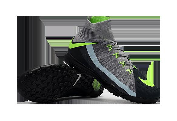 Nike HypervenomX Proximo II DF TF серые с носком