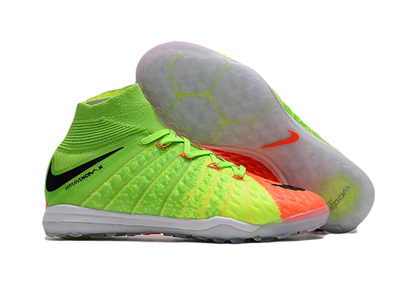 Nike Hypervenomx Proximo II DF TF Зеленые с Оранжевым