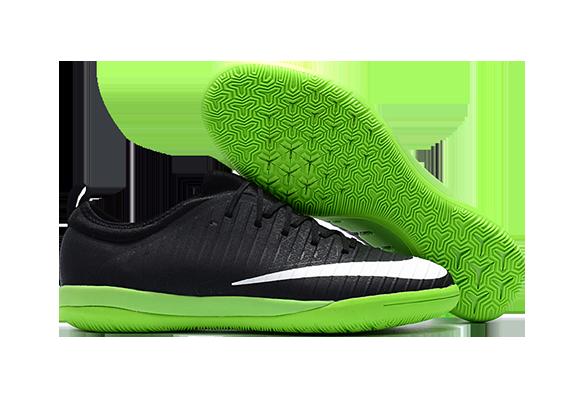 Nike Mercurial Finale VI IC Черные с Зеленым