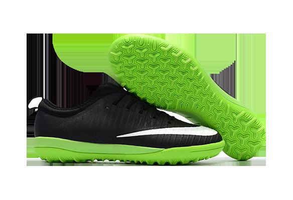 Nike Mercurial Finale II TF Черные с Зеленым