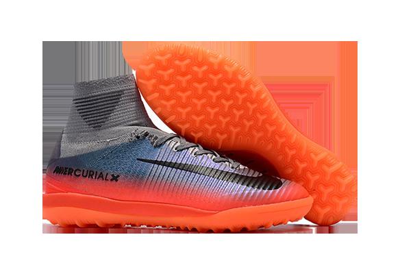 Nike Mercurial Proximo II CR7 TF Серые с Оранжевым