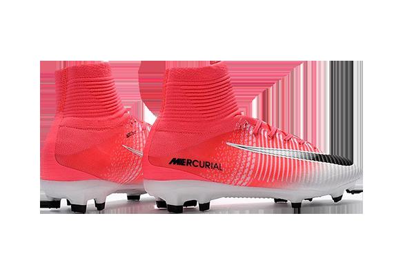 Nike Mercurial Superfly V FG Белые с розовым