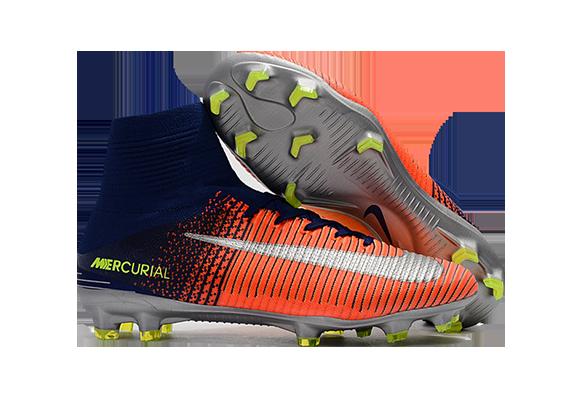 Nike Mercurial Superfly V FG Синие с оранжевым