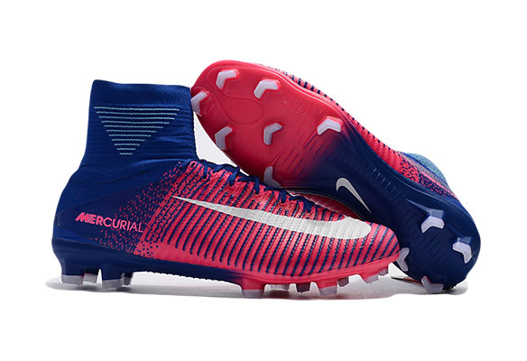 Nike Mercurial Superfly V FG Синие с розовым