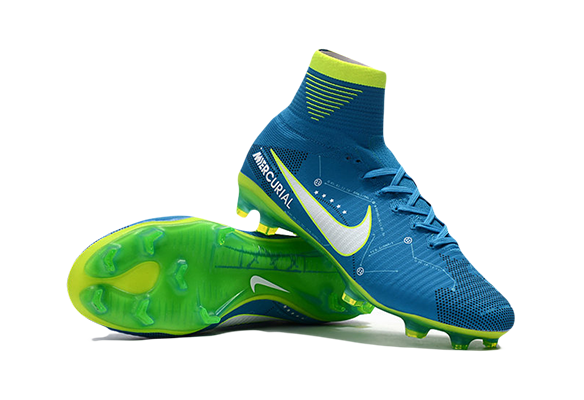Nike Mercurial Superfly V SX Neymar FG Сине-зеленые