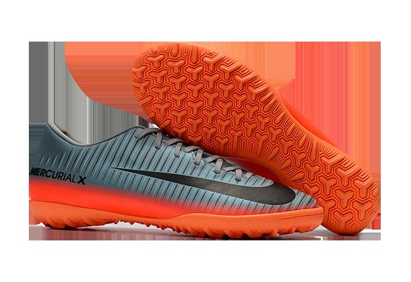 Nike Mercurial Victory VI TF Серые с Оранжевым