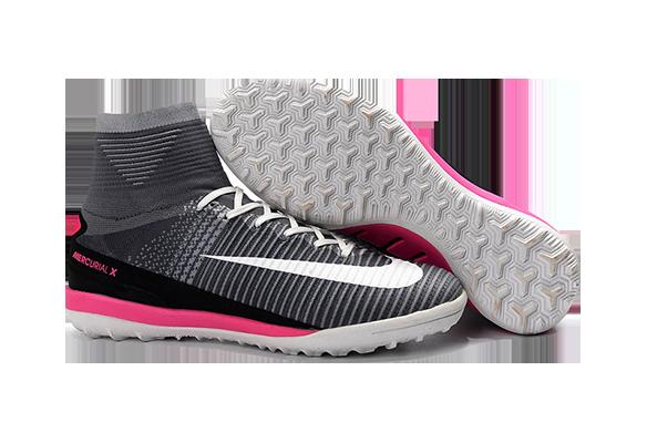 Nike MercurialX Proximo II TF Серые с Розовым