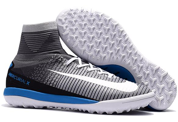Nike MercurialX Proximo II TF Серые с Голубым