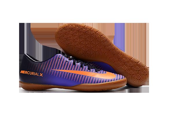 Nike Mercurical Victory VI IC Фиолетовые с Оранжевым