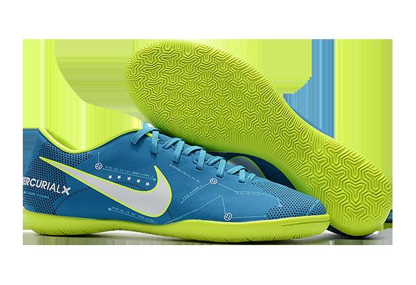 Nike Mercurical Victory VI IC Синие с Зеленым