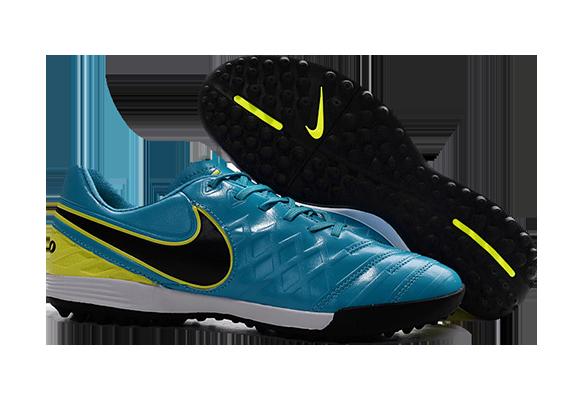 Nike Tiempo Legend TF Голубые с Желтым