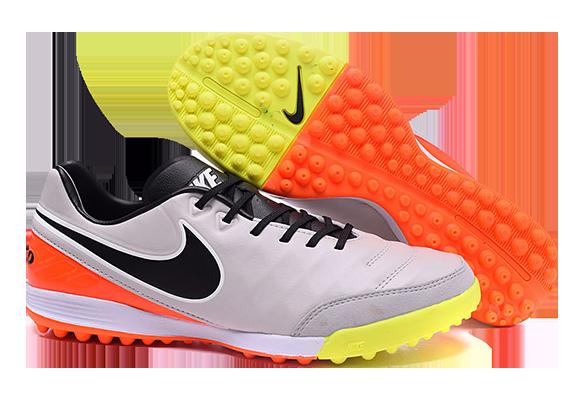 Nike Tiempo Legend V TF Серые с Оранжевым