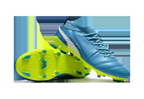 Puma One FG Синие с Зеленым