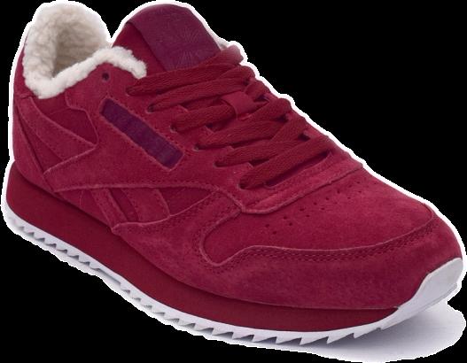 Reebok Classic Красные с натуральным мехом