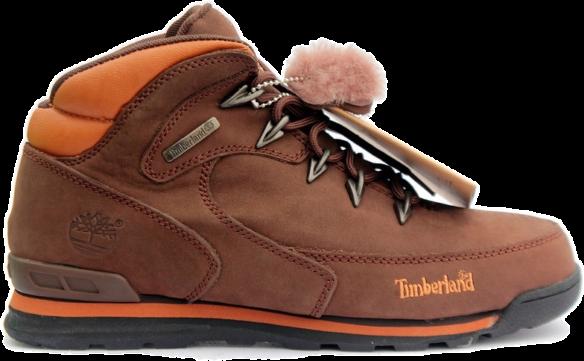 Timberland Euro Rock Hiker С мехом коричневые