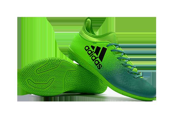 Adidas X 16.3 IC Зеленые