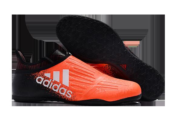 Adidas X Tango 16+ Purechaos IC Черные с Оранжевым