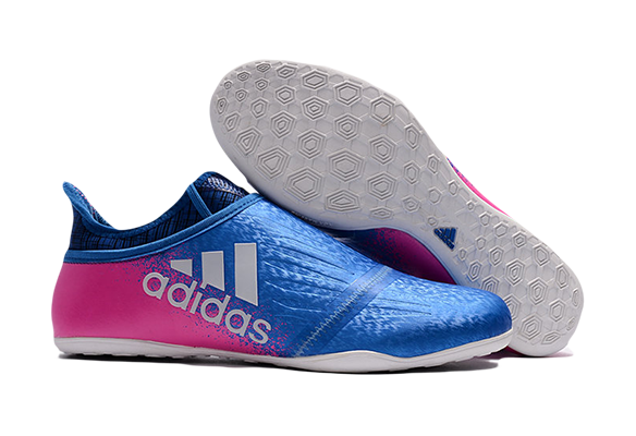 Adidas X Tango 16+ Purechaos IC Синие с Розовым
