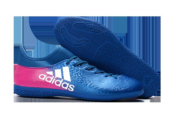 Adidas X 16.3 IC Синие с Розовым