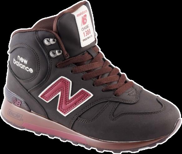 New Balance 1300 Зимние темно-коричневые