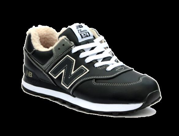 Зимние New Balance 574 С натуральным мехом