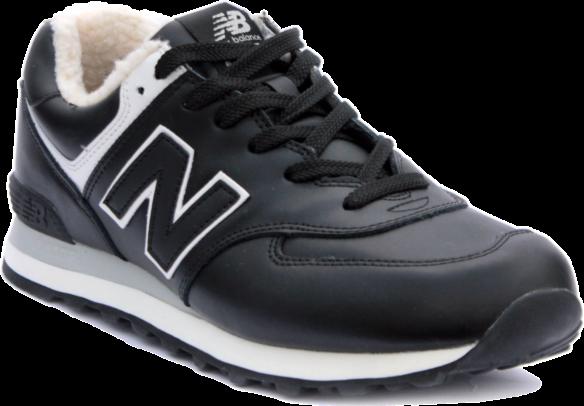 New Balance 574 С натуральным мехом кожаные