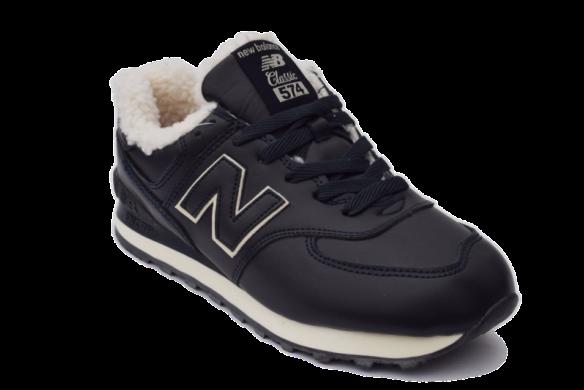 New Balance 574 Зимние черные с мехом