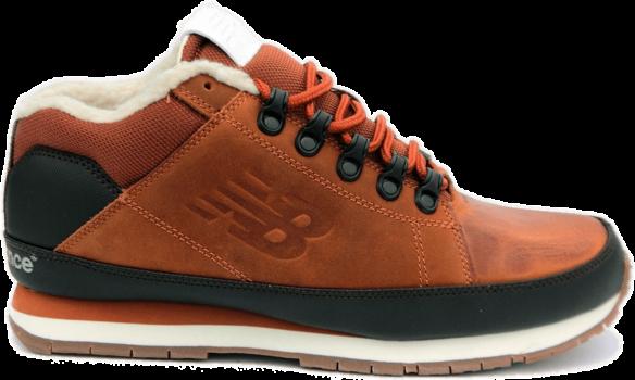 New Balance 754 С натуральным мехом коричневые