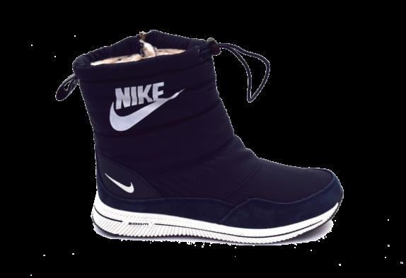 Женские дутики Nike Темно-синие