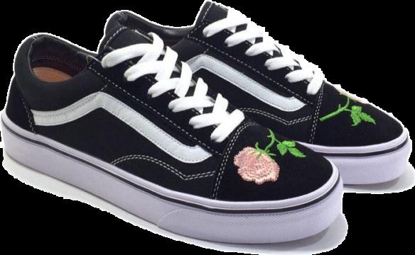 Vans Old Skool Black-White-Pink