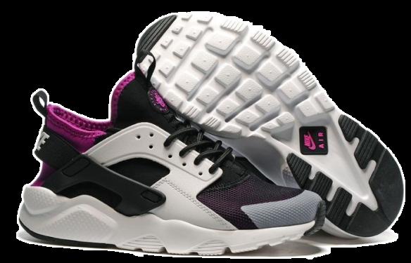 Nike Air Huarache Ultra BR (Black-Grey-White-Purple)