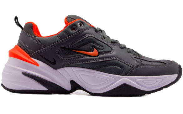 Nike M2K Tekno серые с оранжевым