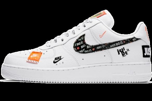 Nike Air Force 1 '07 Premium Just Do It WhiteBlack