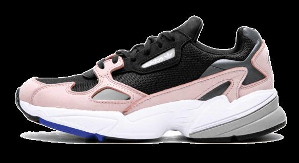 Adidas Falcon черно-розовые
