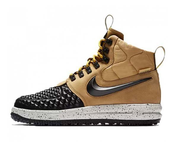 Nike Lunar Force 1 Duckboot gold-light bone-black