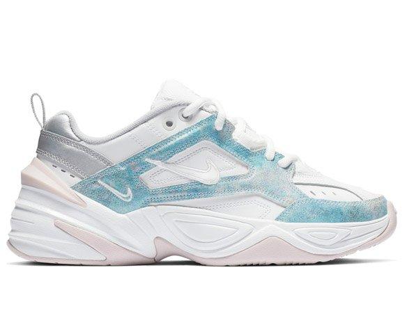 Nike M2K Tekno белые с голубым