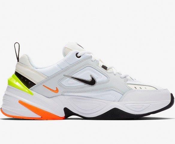 Nike M2K Tekno white-orange-salat